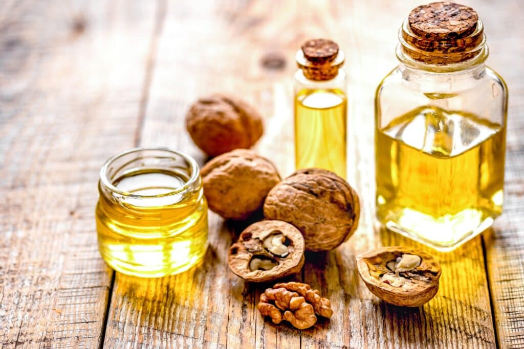 Cooking with walnut oil
